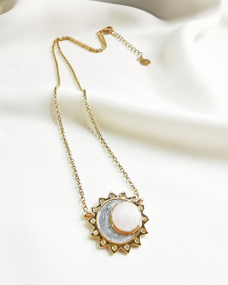 Rainbow moonstone sun moon birthstone