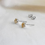 5mm stud coloured gemstone earrings