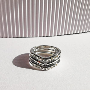 Silver Stack Trio Ring