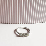 Tory White Topaz Trio Ring - Sterling Silver