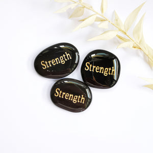 Strength Inspiration Crystal Engraved wording on crystal