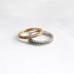 Brielle White Topaz Eternity Rings