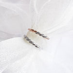 Twist Rope White Topaz Petite Ring Combo