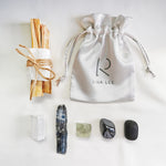 Ultimate Protection & Clearing Crystal Kit - Set of 6 Healing Crystals & Palo Santo