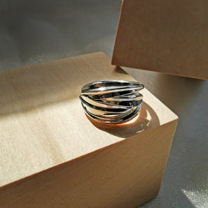 925 Sterling Silver Sage Ring for Woman