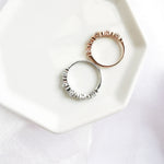 Liv White Topaz Row Ring