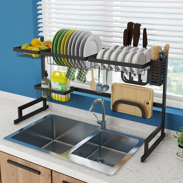 Kitchen Shelf Organizer Dish Drying Rack - JumieGee