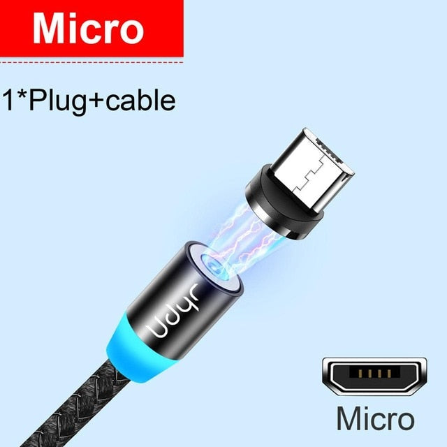 Udyr Magnetic Cable Micro USB Charger for IPhone and Samsung - JumieGee