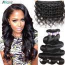 Allove Body Wave Bundles Malaysian Hair Bundles 100% Human Hair Bundles 1 3 4 Bundles Deals Malaysian Body Wave Hair Non Remy - JumieGee