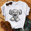 HAKUNA MATATA The Lion King Cartoon Funny Short Sleeve T Shirt Women Two Little lions printed vogue O Neck  tee shirt femme - JumieGee