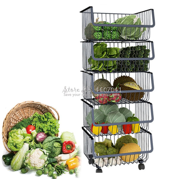 Kitchen Metal Racks & Holders Vegetable Fruit Racks - JumieGee