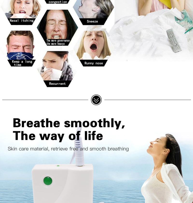 Dropshipping 1 PC Nose Care Rhinitis Sinusitis Cure Therapy Massage Hay Fever Low Frequency Pulse Laser Nose Health Care Machine - JumieGee