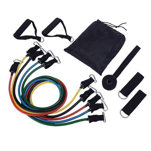 11pcs/set Fitness Workout Resistance Bands Latex - JumieGee