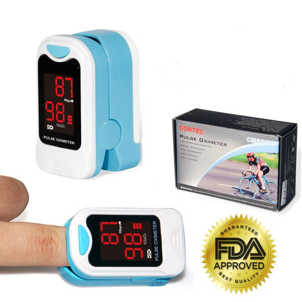 Finger Pulse Oximeter Portable Heart Rate SPO2 Monitor Blood Oxygen Meter Sensor - JumieGee