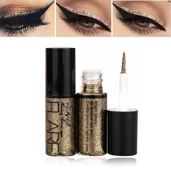 Professional New Shiny Eye Liners Cosmetics for Women Pigment Silver Rose Gold Color Liquid Glitter Eyeliner Cheap Makeup Beauty - JumieGee