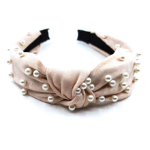 Load image into Gallery viewer, PEARL KNOT HEADBAND