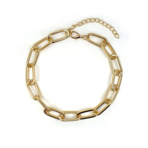 GIA GOLD CHAIN LINK NECKLACE