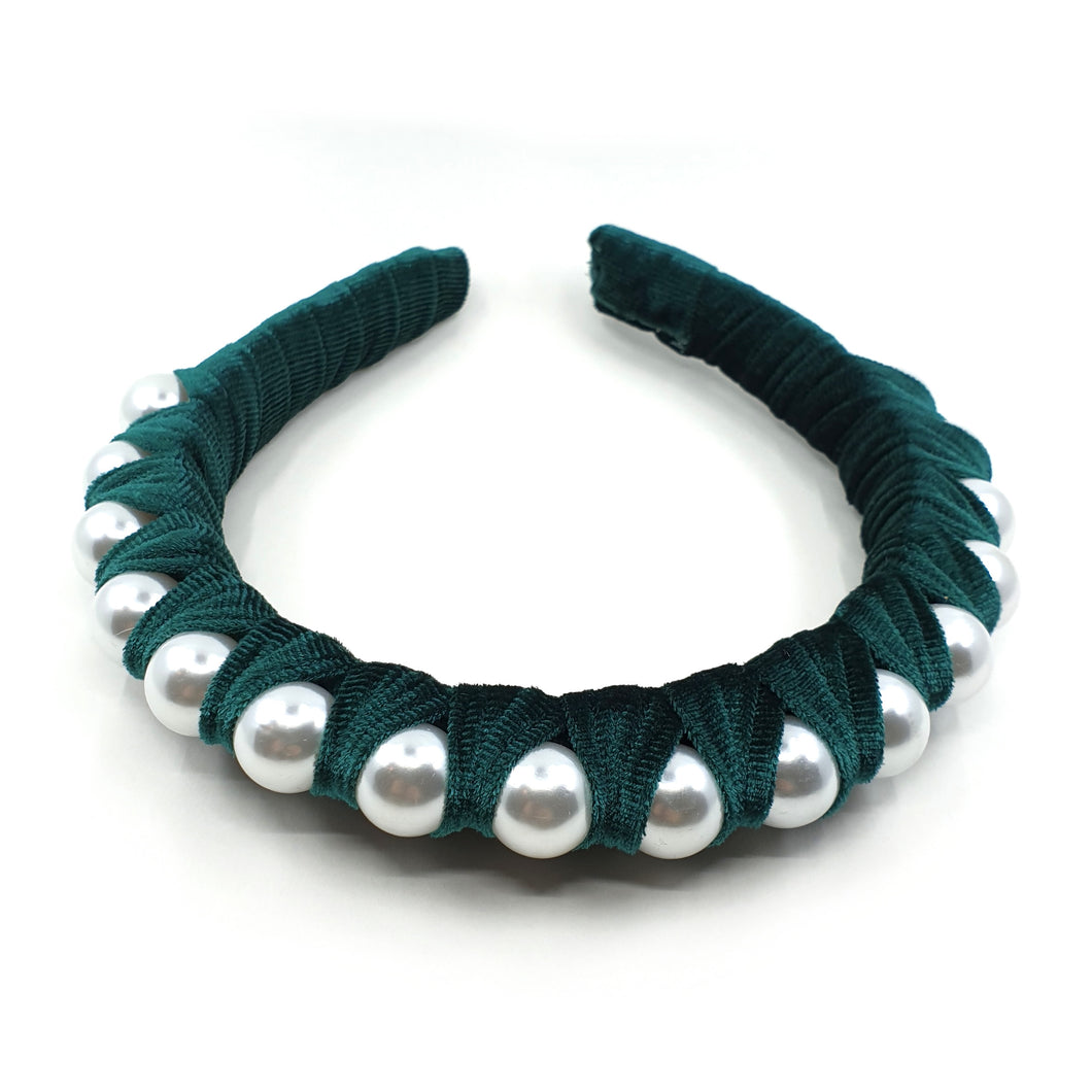 REGAL VELVET PEARL HEADBAND