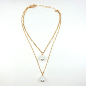 ARIEL LAYERED PEARL NECKLACE