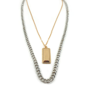 GIGI MIXED METAL NECKLACE