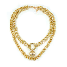 Load image into Gallery viewer, EVA DOUBLE CHAIN NECKLACE