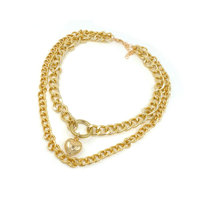EVA DOUBLE CHAIN NECKLACE