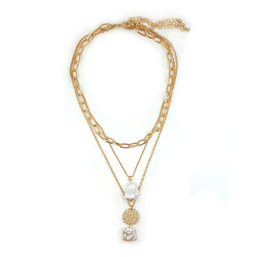 AMARI LAYERED PEARL NECKLACE