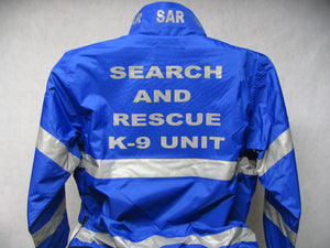 Reflective Search and Rescue K-9 Unit All Weather Jacket