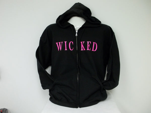 WICKED Full Front Zippered Hoodie