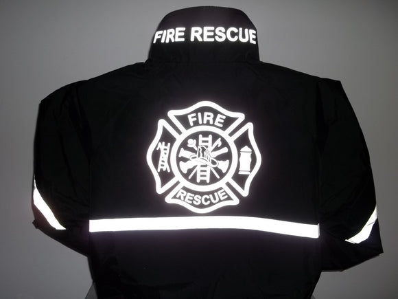Reflective Fire Rescue All-Weather Jacket