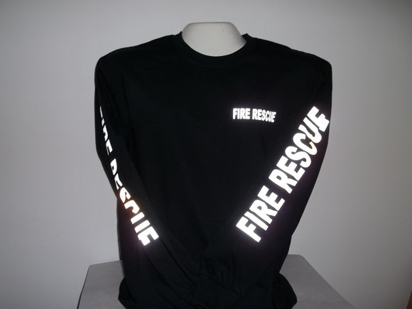 Reflective Custom Fire Rescue Long Sleeve T-Shirt