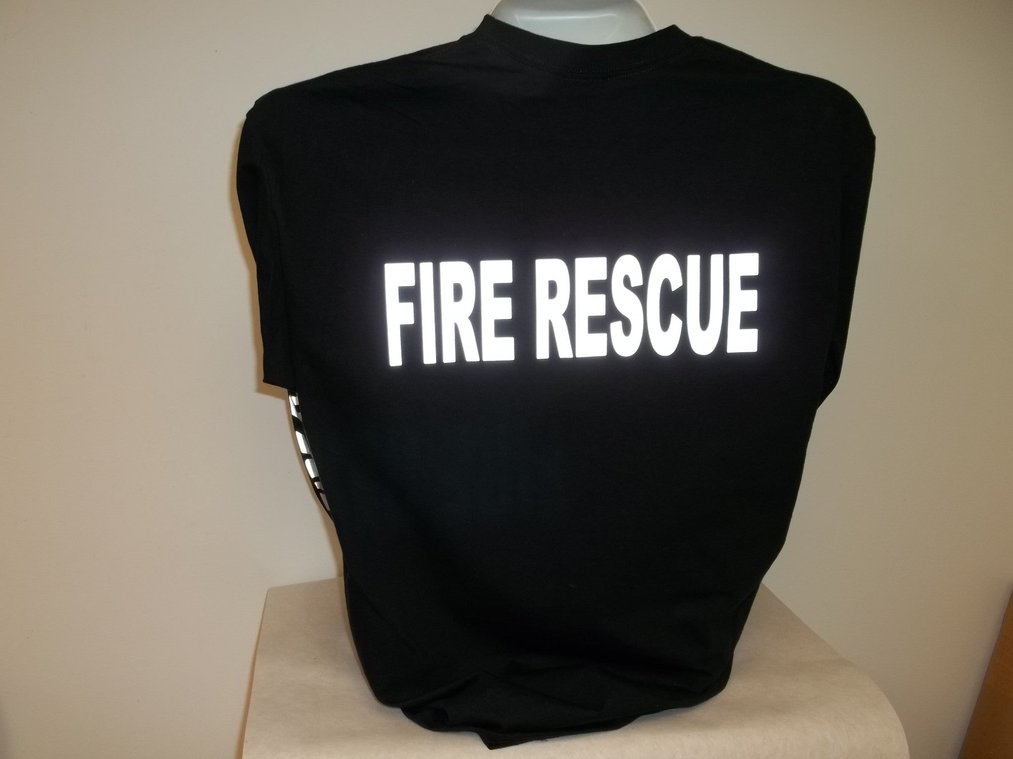 a7121b11 Reflective Custom Fire Rescue Long Sleeve T-Shirt – American ...