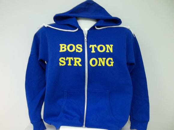 Boston Strong Boston Runs Together Ladies Full Zip Hoodie