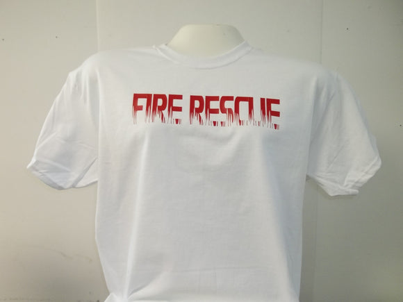 Fire Rescue Flame and Maltese Cross T-Shirt
