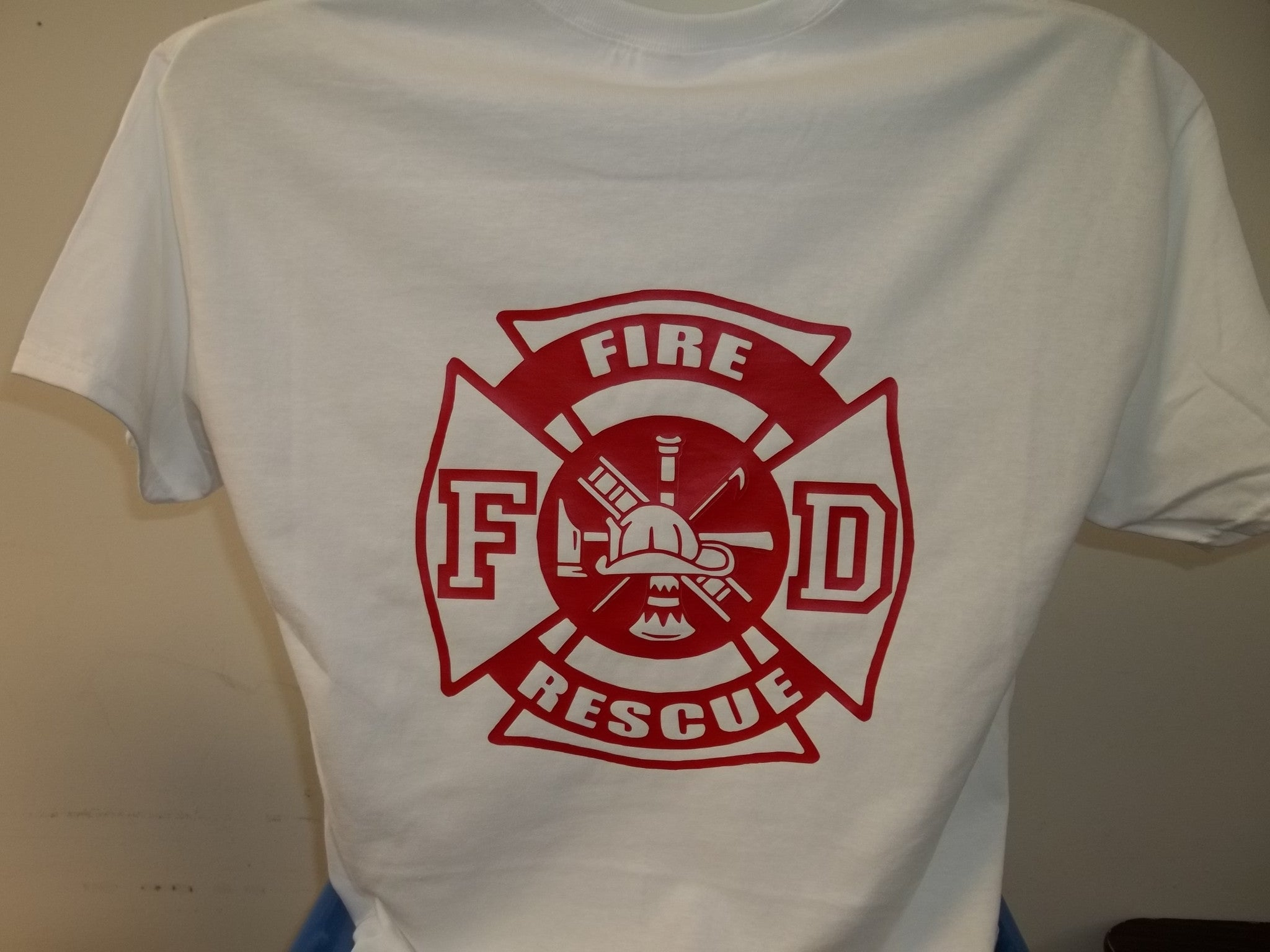 dca38e7b Fire Rescue Flame and Maltese Cross T-Shirt – American Reflective ...
