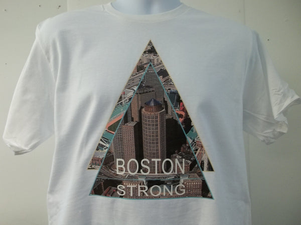 Boston Strong Portrait Skyline T-Shirt