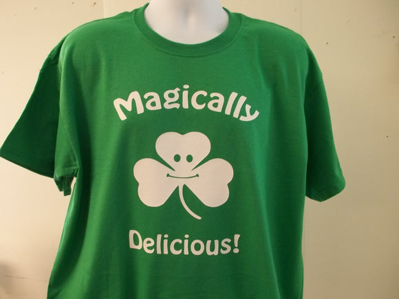 Magically Delicious Shamrock Lucky Charm Style T-Shirt