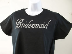 Bridesmaid Bling Silver Diamond Look Bachelorette Wedding Party T-Shirt Free Shipping in USA