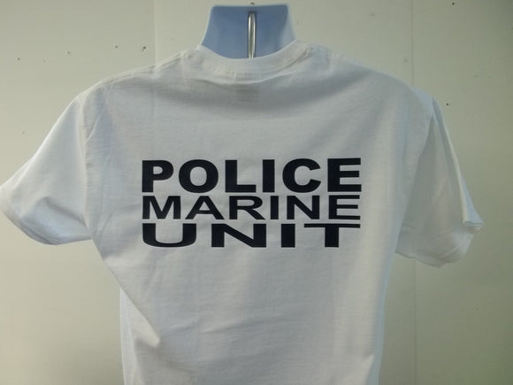 Police Marine Unit T-Shirt, Your Choice of Colors, Free Shipping in USA