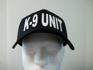 K-9 UNIT 5-Panel Baseball Hat Cap Choose Your Colors and Free Shipping in USA