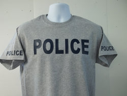 POLICE T-Shirt Printed Front, Back and Both Sleeves with Your Choice of Colors, Free Shipping in USA