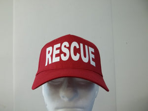 Rescue 5-Panel Baseball Hat Cap Choose Your Colors and Free Shipping in USA