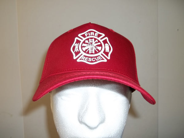 Reflective Maltese Cross 5-Panel Firefighter Rescue Department Hat