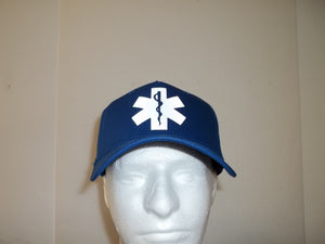 Reflective EMT EMS Star Of Life 5-Panel Constructed Hat Ballcap