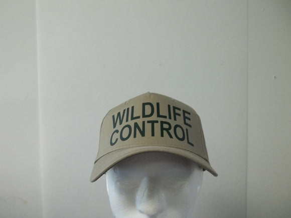 WILDLIFE CONTROL 5-Panel Baseball Hat Cap Choose Your Colors and Free Shipping in USA