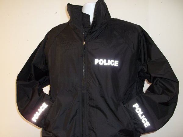 3M Reflective Police or Sheriff Lightweight Jacket, Black or Navy Blue, Free Shipping in USA