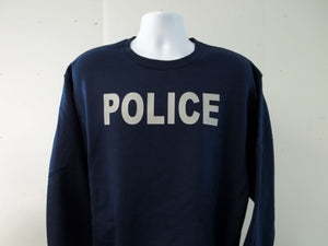 Police Crew Neck Sweatshirt Your Choice of Colors w Free Shipping in USA