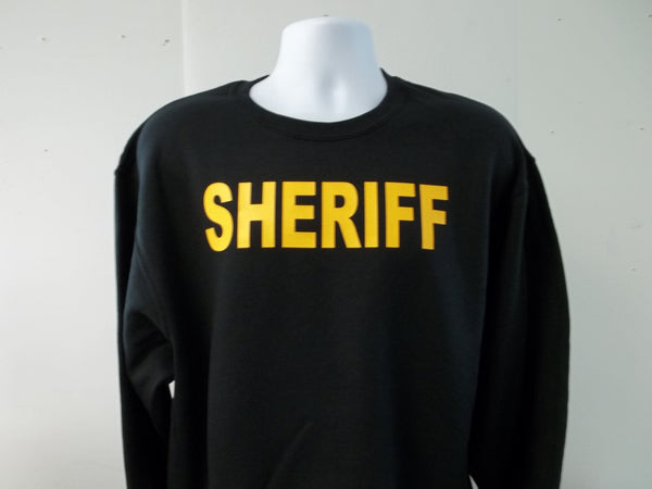 Sheriff Crew Neck Sweatshirt Your Choice of Colors w Free Shipping in USA