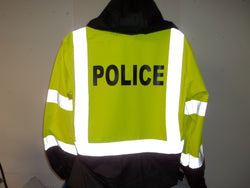 Reflective Police or Sheriff Raincoat/Windbreaker w Free Shipping in USA