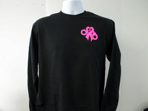 Support Breast Cancer Awareness Police LE October Long Sleeve T-Shirt